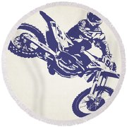 X Games Motocross 1 Round Beach Towel