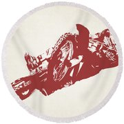 X Games Motocross 2 Round Beach Towel