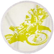 X Games Motocross 5 Round Beach Towel