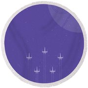 X-wing Attack Round Beach Towel