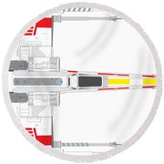 X-wing Fighter Round Beach Towel