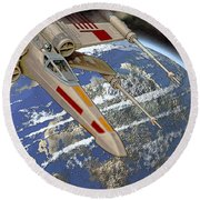 10105 X-wing Starfighter Round Beach Towel