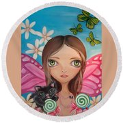 Xenia Fairy Round Beach Towel