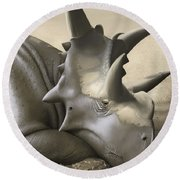 Xenoceratops Foremostensis Relaxing Round Beach Towel
