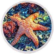 Yachats Oregon - Sea Star Round Beach Towel