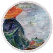 Yachats Painter Round Beach Towel