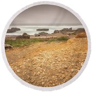 Yachats Seascape- 2 Round Beach Towel