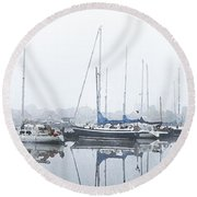 Yachting Club Round Beach Towel
