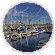 Yachts And Things Round Beach Towel