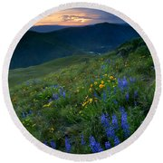 Yakima River Canyon Sunset Round Beach Towel