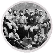 Yale Baseball Team, 1901 Round Beach Towel