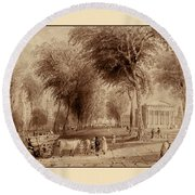 Yale University 1836 Round Beach Towel