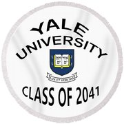 Yale University Class Of 2041 Round Beach Towel