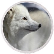 Yana The Fox Round Beach Towel