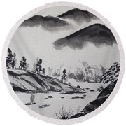 Yangze River Round Beach Towel