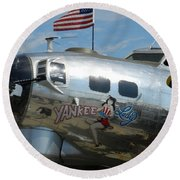 Yankee Lady Round Beach Towel