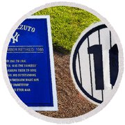 Yankee Legends Number 10 Round Beach Towel