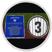 Yankee Legends Number 3 Round Beach Towel