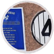 Yankee Legends Number 4 Round Beach Towel