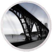Yaquina Bay Bridge Round Beach Towel