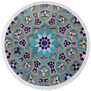 Yazd - Blue Mosaic Round Beach Towel