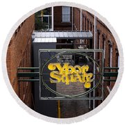 Ybor Square Round Beach Towel