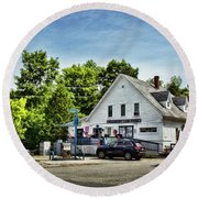 Ye Old Country Store Round Beach Towel
