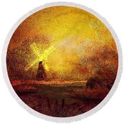 Ye Olde Mill Round Beach Towel