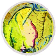 Yello Round Beach Towel by Mindy Newman