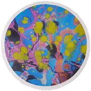 Yello Pods Round Beach Towel