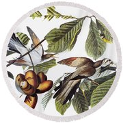Yellow-billed Cuckoo Round Beach Towel