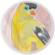 Yellow Bird 56 Round Beach Towel