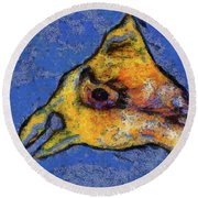 Yellow Bird Round Beach Towel