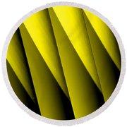 Yellow Borders Round Beach Towel