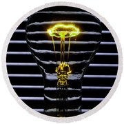 Yellow Bulb Round Beach Towel
