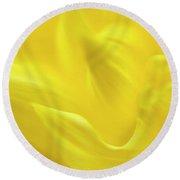 Yellow Dahlias Round Beach Towel
