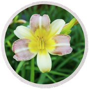 Yellow Daylily Round Beach Towel