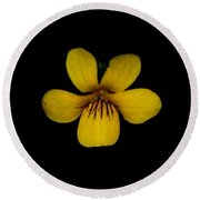 Yellow Flower 1 Round Beach Towel