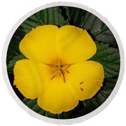 Yellow Flower 2 Round Beach Towel