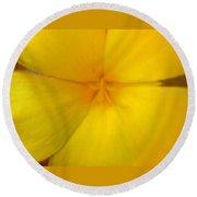 Yellow Flower Photograph Round Beach Towel