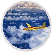 Yellow Glider Round Beach Towel