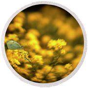 Yellow Island Round Beach Towel