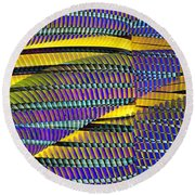 Yellow Jacket Round Beach Towel