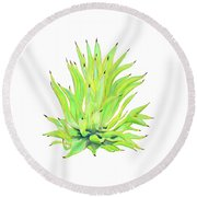Yellow Octopus Agave Round Beach Towel