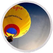 Yellow Pages Balloon Round Beach Towel