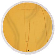 Yellow Pavement Round Beach Towel