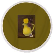 Yellow Pitcher 2 Round Beach Towel