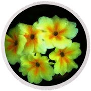 Yellow Primrose 5-25-09 Round Beach Towel