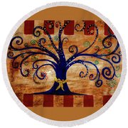 Yellow Ribbon Round Beach Towel
