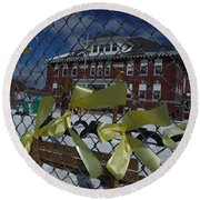 Yellow Ribbons At Groveton Elementary  Round Beach Towel